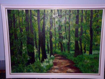Út az erdőben Olaj farost