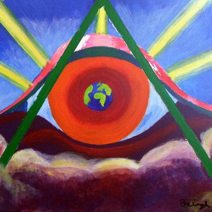 Isten szeme olaj-vászon